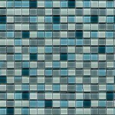 Pretty blue glass tiles