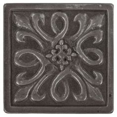 Decorative Tile Accent Pieces Pthis Square 4Inx 4Inmetallic Bronze Decorative Insert Is A