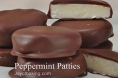 I think I may have to make this recipe! Peppermint Patties