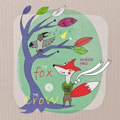 The Fox and The Crow / Fable / Illustration Crow, Kids Rugs, Illustration, Home Decor, Homemade Home Decor, Ravens, Kid Friendly Rugs, Illustrations, Crows