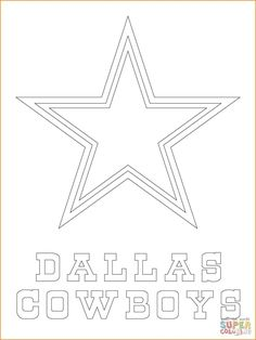 ad131b1cfc Dallas Cowboys Logo coloring page from NFL category. Select from 31431  printable crafts of cartoons