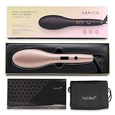 AsaVea Hair Straightening Brush 4 with Premium Anion Generator, Lighter and Smaller, Best for Using at Home or Travelling (rose gold) | 1001 Hair Brush Straightener, Hair Straightening, Rose Gold Hair Brunette, Lighter, Travelling, Beauty, Hair Smoothing, Cosmetology
