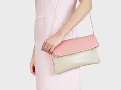 Foldover-Tasche Finja – Beige | Rosa | Foldover Finja | Umhängetaschen | TASCHEN | lille mus