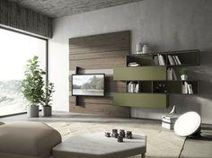 Cabina Armadio Cartongesso Xenia : Parete attrezzata autoportante divisoria in legno e vetro air