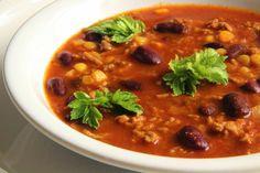 V kuchyni vždy otevřeno ...: Fazolová polévka po mexicku Fajitas, Quinoa, Chili, Treats, Ethnic Recipes, Soups, Mexico, Bulgur, Sweet Like Candy