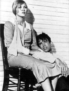 "Faye Dunaway and Warren Beatty in ""Bonnie and Clyde"", 1967. in my top 10; love this movie."
