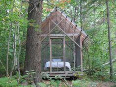 Sleeping in the woods  #cabin #mytumblr