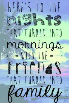 Here's to the nights!