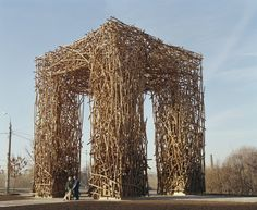 Nikolay Polissky Creates Towering, Handcrafted Structures Across Russia