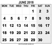 2018 June calendar