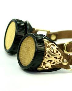 STEAMPUNK Brown Victorian Goggles.