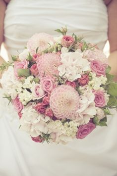 pink pastel bridal bouquet.
