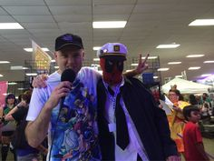 Boat Captain Deadpool and the first fun with wang competitor @ #Paracon.... This was shortly before the boat sank...