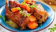 Králik pečený na zelenine Tandoori Chicken, Turkey, Meat, Ethnic Recipes, Food, Turkey Country, Essen, Meals, Yemek