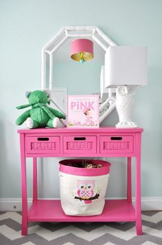 Girls Bedroom Makeover in Bright Colors