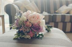 Image by Babb Photo. Wedding bouquet. purple roses. white roses. blush roses.