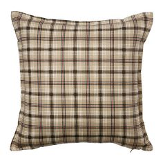 US - Furniture and Home Furnishings : IKEA – TRÅDTÅG, Cushion cover, The zipper makes the cover easy to remove. Plaid Throw Pillows, Throw Pillow Covers, Cottage Renovation, Home Renovation, Home Living Room, Living Room Decor, Cushion Covers Online, How To Make Pillows, Soft Furnishings