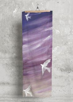 Artist Kelly @ MessiahsDisciple ASCENDING LIKE A DOVE Modal Scarf made with soft, luxurious fabric will add a bold, modern statement to any wardrobe. NOTE: Each piece is uniquely designed and custom-printed. Color and placement of artwork may vary upon receipt. 40.00 USD http://shopvida.com/collections/voices/products/ascending-like-a-dove-2