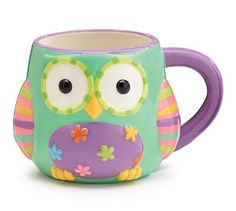 Whimsical 15 oz Wize Owl Ceramic Coffee Cup Mug with Gift Box Pastel Mint Green Owl Coffee, Cute Coffee Mugs, Ceramic Coffee Cups, Owl Kitchen Decor, Cute Owl Tattoo, Galaxy Phone Wallpaper, Owl Mug, Owl Ornament, Pastel Mint