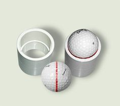 pvc 1-1/4 coupling DIY Golf ball marker to line up your putt
