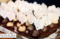 Place card truffles