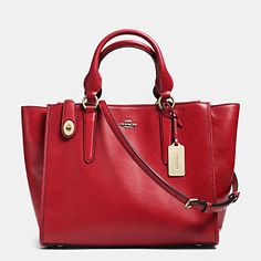 Designer Handbags | COACH - Crosby Carryall in leather - #red