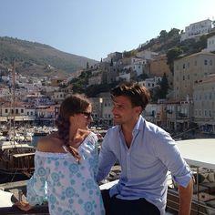 THE OLIVIA PALERMO LOOKBOOK: Olivia Palermo with Johannes Huebl in Hydra Island.