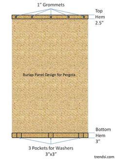 Pergola Curtains - DIY and Crafts via www.trendsi.com
