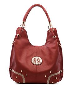 Another great find on #zulily! Red Embellished Hobo #zulilyfinds