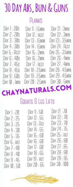 Chay Naturals - 30 Day Abs, Buns & Guns Challenge - Tone up in winter to have a great summer body. More importantly supercharge your hair growth by improving your health and fitness.