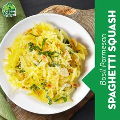 Pair the savory squash flavor with garlic, parmesan, fresh basil, and pine nuts. Click for the full recipe! Side Dish Recipes, Vegetable Recipes, Vegetarian Recipes, Cooking Recipes, Healthy Recipes, Vegetable Sides, Vegetable Side Dishes, Spaghetti Squash Recipes, Garlic Parmesan