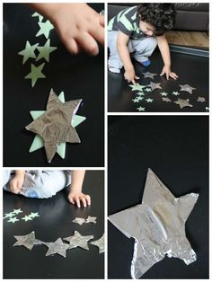 """KK Licht & Donker/ Dag & Nacht: Activities to go along side the book """"How to Catch a Star"""" by Oliver Jeffers - for age Eyfs Activities, Space Activities, Kindergarten Activities, Preschool Activities, Preschool Lessons, Infant Activities, Oliver Jeffers, Preschool Crafts, Fun Crafts"""