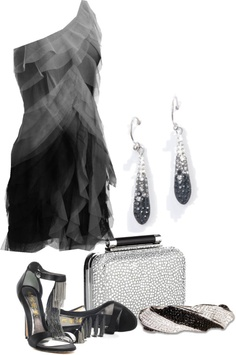 """""""Ombre in Black"""" by edythe-hamilton ❤ liked on Polyvore"""