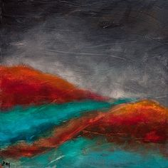Original abstract landscape expressionist mountain painting | Gallery wrapped stretched canvas ready to hang
