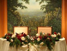 シティクラブオブ東京様への装花 クリスマスの前に : 一会 ウエディングの花 Wedding Notes, Red Wedding, Red Christmas, Xmas, Table Arrangements, Banquet, Beauty And The Beast, Red Green, Floral Wreath