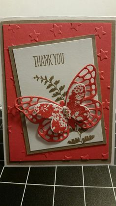 Stampin' Up Butterfly card