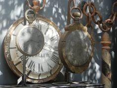 The French Tangerine: ~ the big weekend Old Clocks, Antique Clocks, Vintage Clocks, Garden Show, Antique Market, Vintage Love, Vintage Antiques, Big, Flea Markets