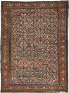 Antique Century West Central Persian Collectible Neutral Ferahan Rug with neutral ground Antique Rug - Claremont Rug Company