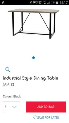 new dining room table? http://www.kmart.au/product/industrial