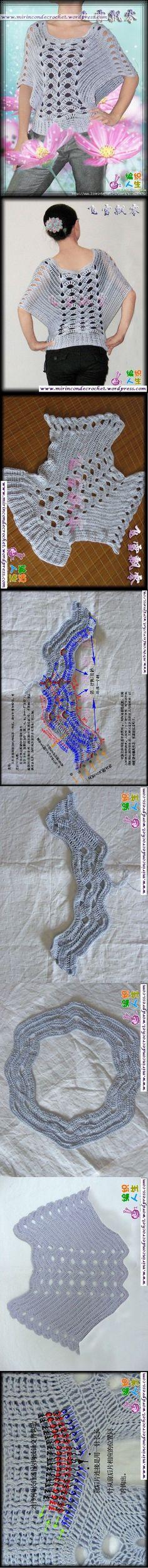 Bellisima remera…Una de mis favoritas | Mi Rincon de Crochet