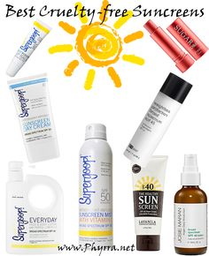 Makeup Wars Best Cruelty-Free Sunscreens - Moisturizers with SPFs, Lip Balms with SPFs, and Body lotions and sprays with SPFS. Pin now, read later! You don't want to miss these! #lipsticks #melanomaawareness #supergoop #fresh #pcaskin #lavanila #josiemaran #spf  http://www.phyrra.net/2013/05/makeup-wars-bes-cruelty-free-sunscreens.html