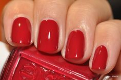 Essie = Size Matters, can it get any more perfect than a short red nail...I think not!