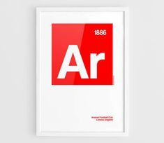 Arsenal FC Football Elements Poster  A3 Wall Art by NazarDes