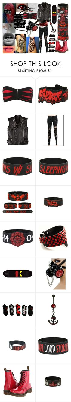 """Untitled #104"" by legacy-sinister ❤ liked on Polyvore featuring Hot Topic, Diesel Black Gold, Watson's, GAS Jeans and Dr. Martens"