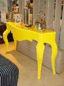 Aparador amarelo em laca Aparador - Para a sala de jantar