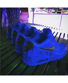 Nike Air Max 90 Candy Drip Royal Blue Black Trainer nike-air-max-90-candy-drip