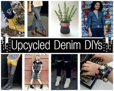 8 Cute and Quirky Upcycled Denim DIYs - That Cheap Bitch