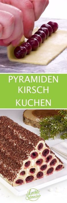 Cherry cake with a difference - with this pyramid you are .- Kirsch Kuchen mal ganz anders – mit dieser Pyramide bist du der Star am Kuchen… Cherry cake with a difference – with this pyramid you are the star of the cake buffet! Cake Cookies, Cupcake Cakes, Cookie Recipes, Dessert Recipes, Cherry Cake, Icebox Cake, Cakes And More, Sweet Recipes, Bakery