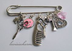BAG / KILT PIN / BROOCH 'Hairdresser' CHARM . New