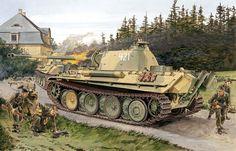 Panther Ausf G ultima produzione, 11.Pz.Div, Baviera Maggio 1945 - Ron Volstad